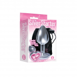 The Silver Storter Bejeweled Heart Plug Pink